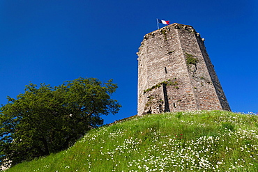 France, Normandy Region, Manche Department, Bricquebec, 14th century castle-keep