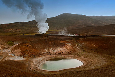 The Krafla volcanic crater near Lake Myvatn, Iceland