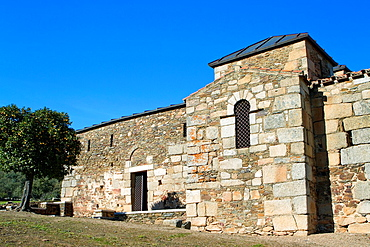 Santa Lucia del Trampal church VII century is one of the most outstanding visigothic chapel of Spain Declarated BIC Cultural Interest Goods Alcuescar, Caceres province