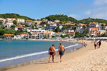 Beach, Sao Martinho do Porto, Alcobaca, Oeste, Leiria District, Portugal.