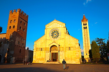 Basilica di San Zeno Maggiore church Verona city the Veneto region Italy Europe