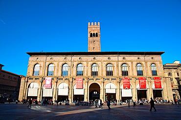 Palazzo del Podesta palace at Piazza Maggiore square central Bologna city Emilia-Romagna region northern Italy Europe
