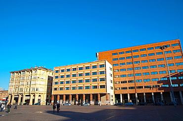 Office buildings at Piazza del Otto Agosto square central Bologna city Emilia-Romagna region northern Italy Europe