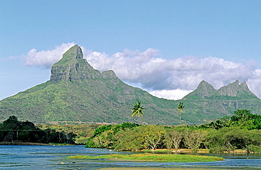 Tamarin bay and Riviere du Rempart, Tamarin, West Coast, Mauritius