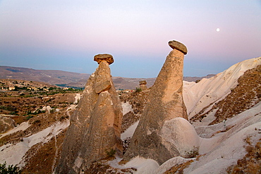 A couple of Chimneys in Cappadocia
