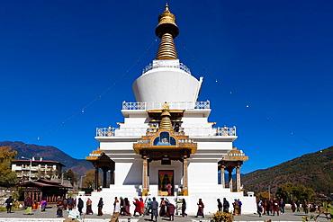 Memorial Chorten, Thimphu, Bhutan, Asia.