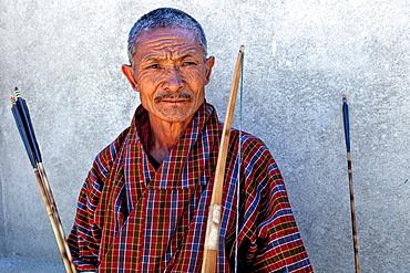 Archery, Bhutan's national sport, Thimphu, Bhutan, Asia.