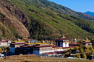 Thimphu Dzong Trashichodzong, Thimphu, Bhutan, Asia.