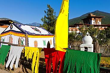 Punakha Dzong, Punakha, Bhutan, Asia.