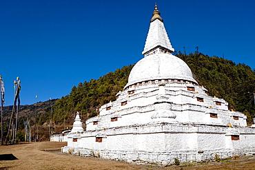 Chendebji Chorten, Trongsa, Bhutan, Asia.