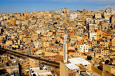 Panoramic view of Amman, Jordan, Middle East.