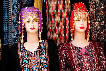 Traditional clothes shop, Amman, Jordan, Middle East.