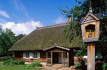 Village buildings, Open Air Museum, XVIIIth-XIXth centuries, Rumsiskes near Kaunas, Trakai, Lithuania.