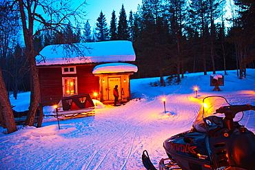 Lapp hut Vithatten Skelleftea Vasterbotten, Lapland, Sweden, Scandinavia.
