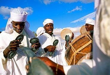 Musicians International Festival of the Sahara Douz Southern Tunisia.