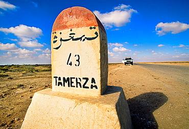 Tozeur-Tamerza road Southern Tunisia.