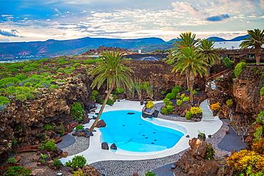 Spain, Canary Islands, Lanzarote Island, Jameos del Agua, the pool