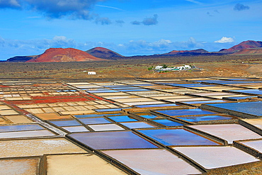 Spain, Canary Islands, Lanzarote Island, Janubio Saltworks