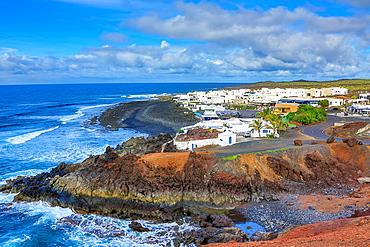 Spain, Canary Islands, Lanzarote Island,Volcanos National Park, La Laguna Village