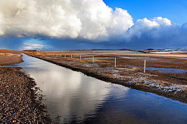 Creek at Salthouse Norfolk Winter