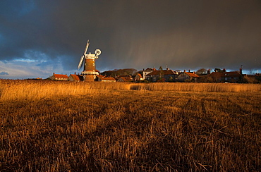 Cley Mill at Sunset Winter Norfolk