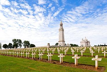 France, Nord-Pas de Calais Region, Pas de Calais Department, Souchez, Notre Dame de Lorette, World War One French War Memorial, military cemetery