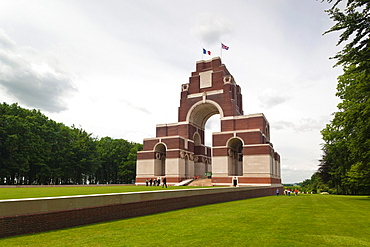 France, Picardy Region, Somme Department, Somme Battlefields, Thiepval, Memorial to World War One British troops