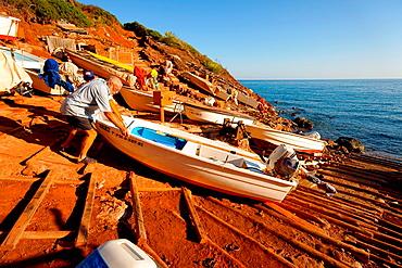 Port des Canonge Banyalbufar Costa de Tramuntana Majorca Balearic Islands Spain