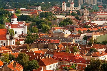 Vilnius A view of the Old Town from the Gediminas Tower