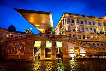 The Albertina is a museum for modern graphics works, Vienna, Austria