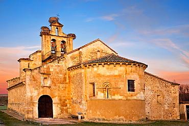 The Asuncion church in Castillejo de Mesleon Segovia Castilla Leon Spain