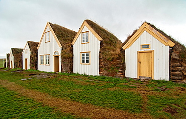 traditional turf houses at the Glaumbaer Farm in Skagafjordur, northern Iceland