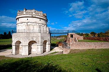 Italy, Emilia Romagna, Ravenna, Mausoleo di Teodorico, Mausoleum of Theodoric