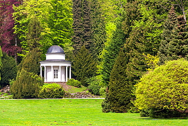Pavilion in the Bergpark Wilhelmshoehe, Kassel, Hesse, Germany, Europe