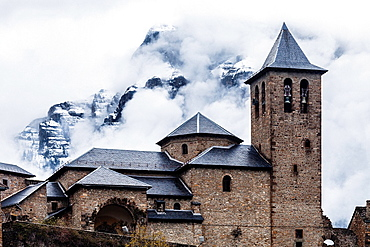 San Salvador church, Ordesa valley, Huesca, Aragon, Spain