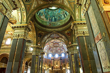 interior of the Pontifical Shrine of the Blessed Virgin of the Rosary of Pompei, city of Pompei, province of Naples, Campania region, southern Italy, Europe