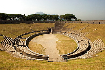 amphitheatre of the archeological site of Pompeii, province of Naples, Campania region, southern Italy, Europe