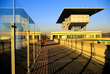 renovation by the architect Renzo Piano of the test track on roof of the Lingotto building that was an automobile factory built by Fiat, Turin, Piedmont region, Italy, Europe