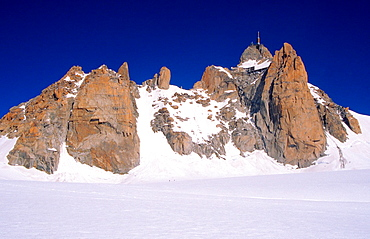 View of the Aiguille du Midi from Valley Blanche, Mont Blanc mountain massif, Savoy Alps, France