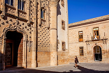 Palacio de Jabalquinto and old university 16th century, Baeza Jaen province, Andalusia, Spain