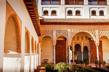 Patio de la Acequia courtyard of irrigation ditch El Generalife La Alhambra Granada Andalusia