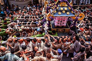 Sanja Matsuri Festival, street next to Sensoji Temple, Asakusa, Tokyo, Japan, Asia