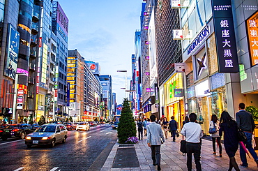 Ginza Ginza St Chuo-Dori Tokyo city, Japan, Asia