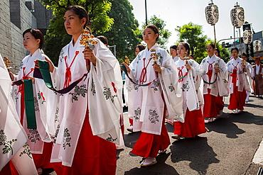 Sanno Matsuri parade The parade begins and ends at HieJinja shrine, Nagata-cho Tokyo city, Japan, Asia