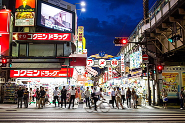 Ameyoko market Street Tokyo city, Japan, Asia