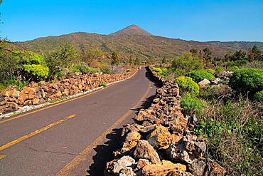 Road to Teide mountain Tenerife