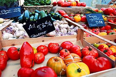 Colorful Provence vegetables, Alpes de Haute Provence, 04, PACA, France.