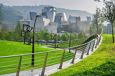 Guggenheim views, Bilbao, Basque Country, Spain