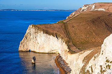 Bat's Head and Butter Rock, Jurassic Coast, Lulworth, Dorset, England, Europe