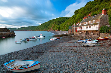 Clovelly village and harbour, Devon, South West, England, United Kingdom, Europe